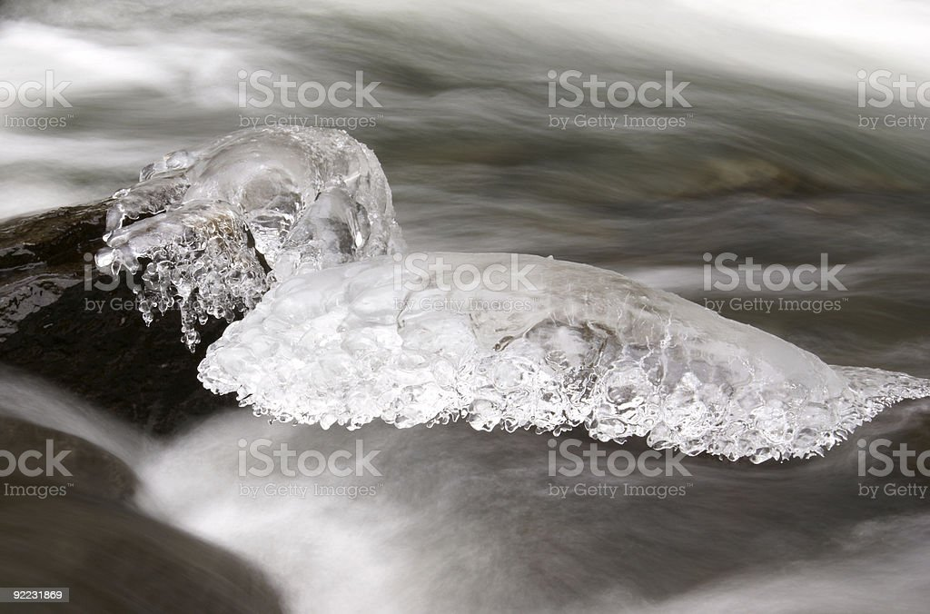 iced rock royalty-free stock photo