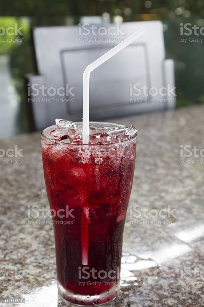 Iced roselle juice royalty-free stock photo