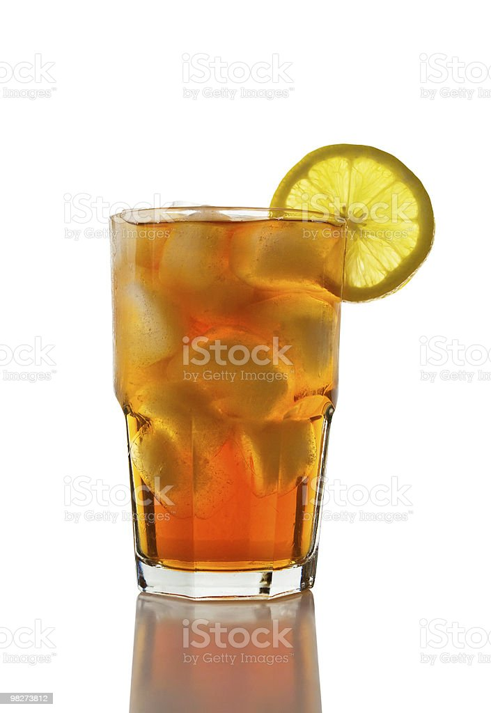 Iced Tea and Lemon (clipping path) royalty-free stock photo
