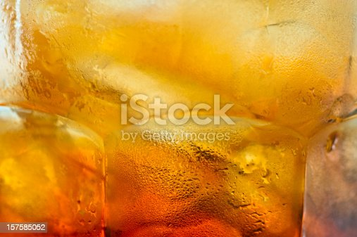 Iced Tea close up background