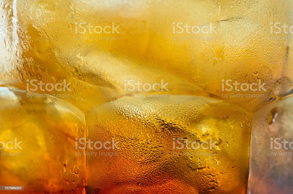 Iced Tea close up background stock photo