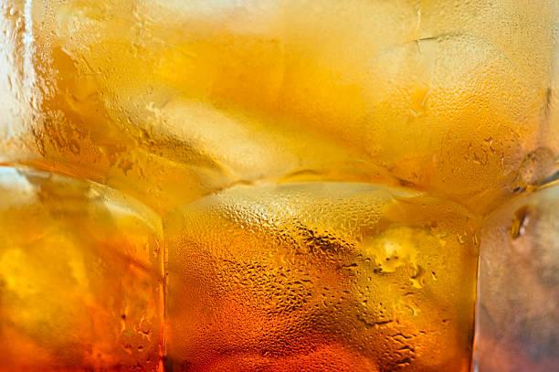 chá gelado de fundo close-up - tea drinks - fotografias e filmes do acervo