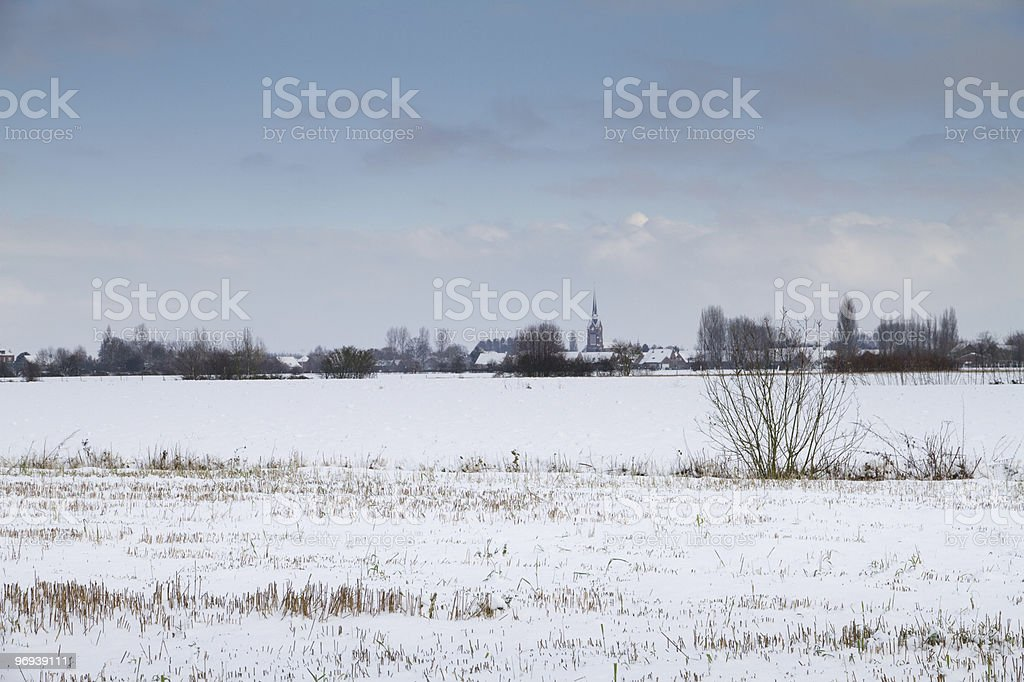 iced village royalty-free stock photo