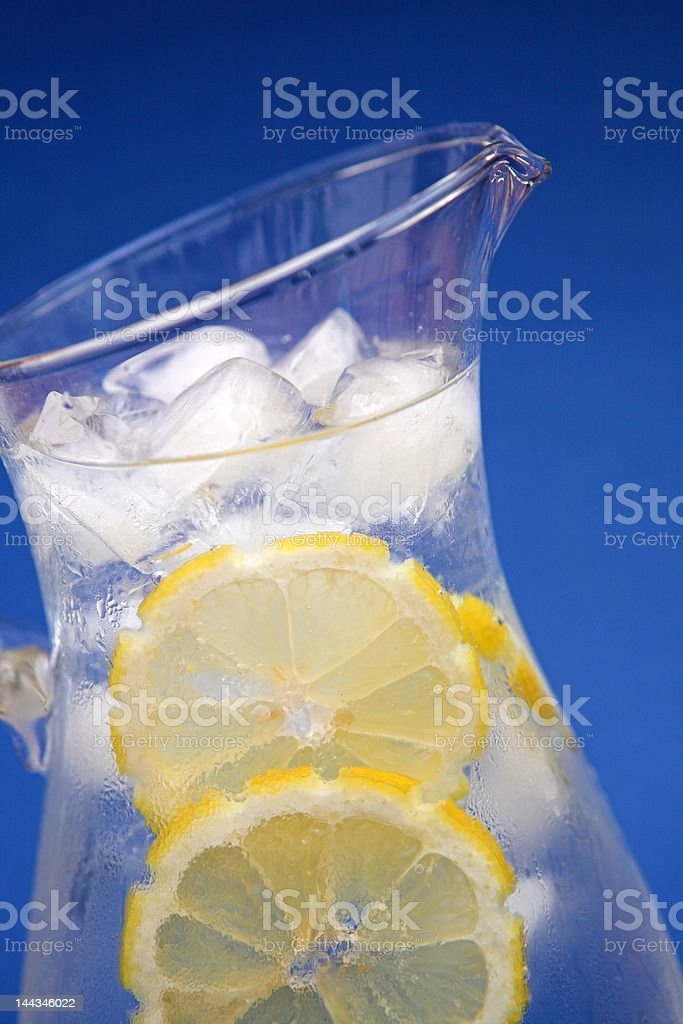 Iced water on blue royalty-free stock photo