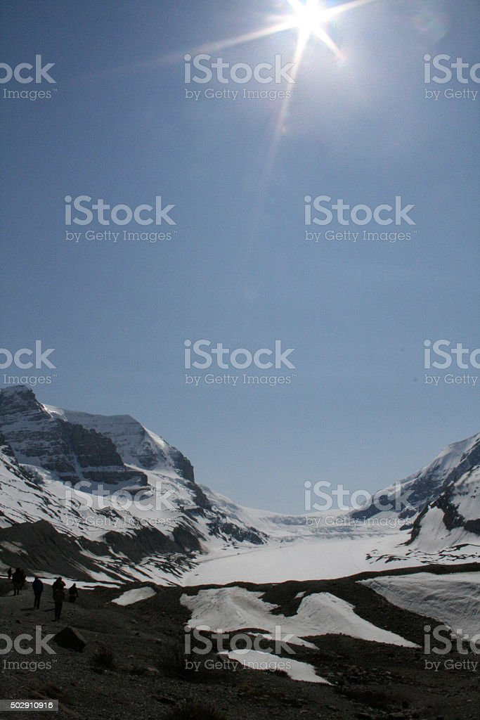 Icefield in Spring stock photo