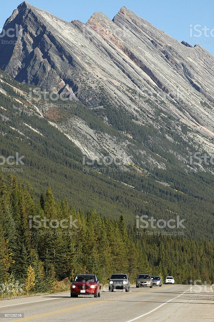 Icefield Parkway in the Canadian Rockies stock photo