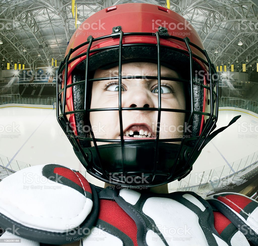IceHockey Star stock photo
