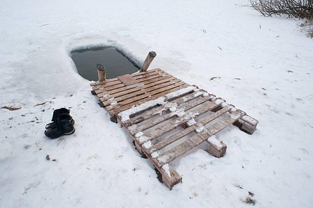 ice-hole stock photo