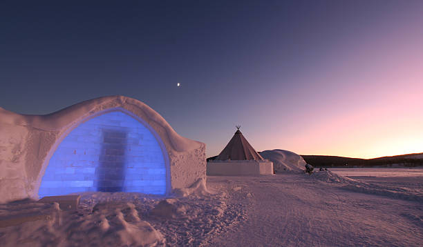 icehotel entrance - norrbotten bildbanksfoton och bilder