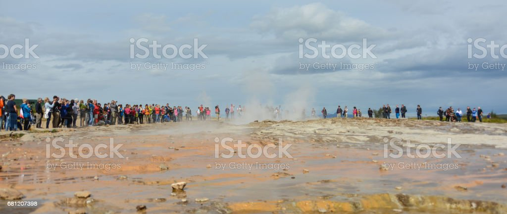 Iceland at strokkur geyser royalty-free stock photo