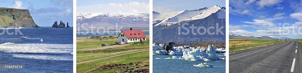 Iceland background stock photo