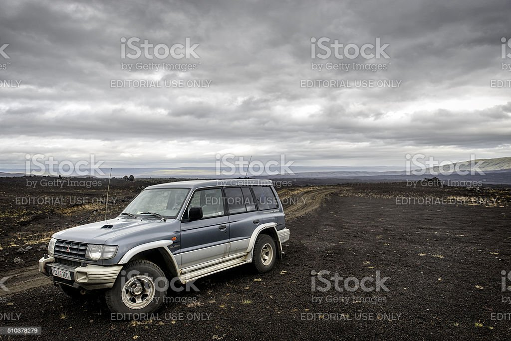 Iceland by four wheel drive stock photo