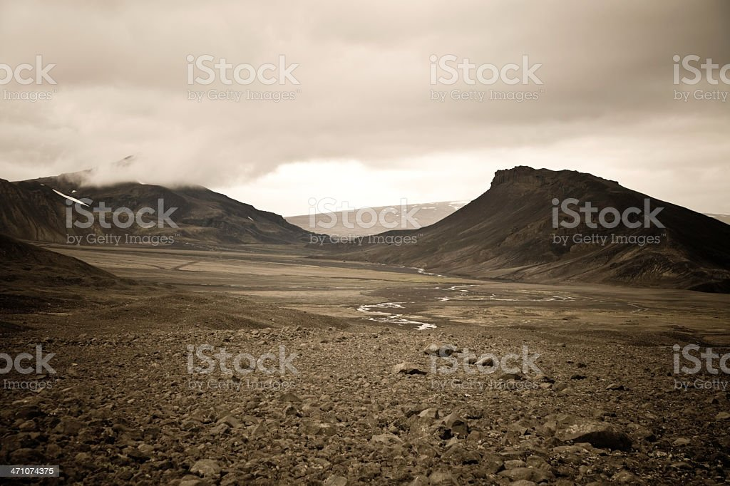 Iceland Desert Landscape royalty-free stock photo