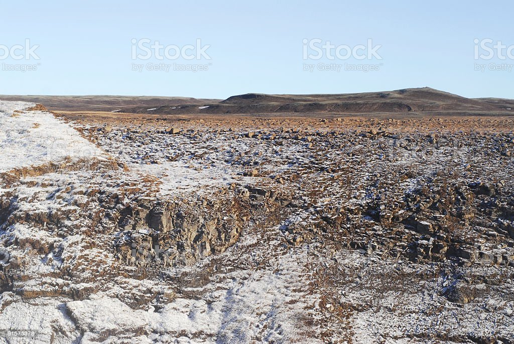 Iceland desolate landscape royalty-free stock photo