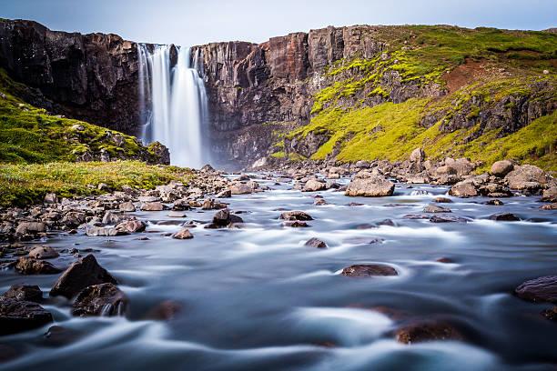 Iceland, east fjords, Isafjordur stock photo