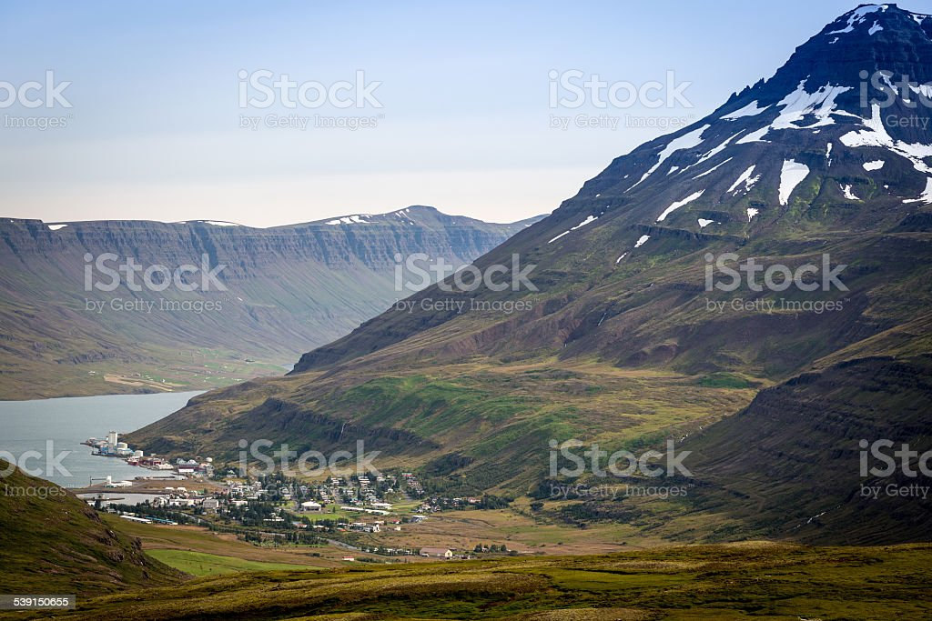 Iceland, east fjords, Isafjordur stock photo