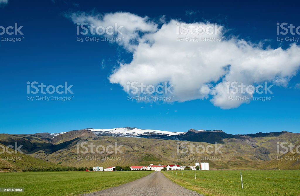 Iceland farm stock photo