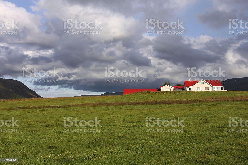 Iceland farm royalty-free stock photo
