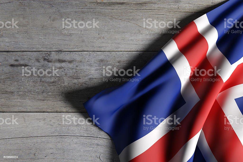 Iceland flag waving stock photo