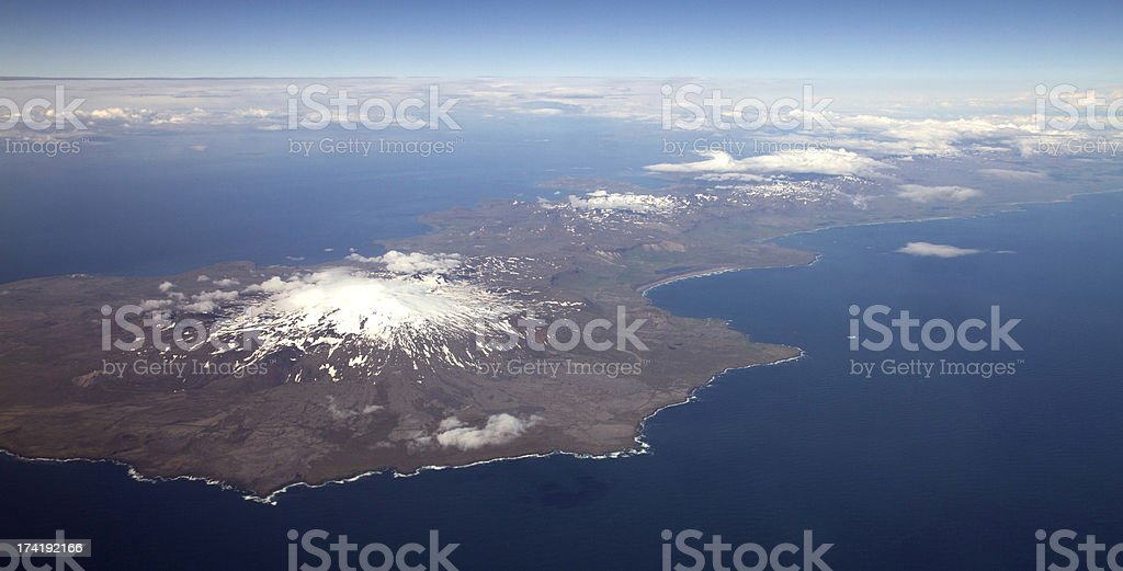 iceland from the air stock photo