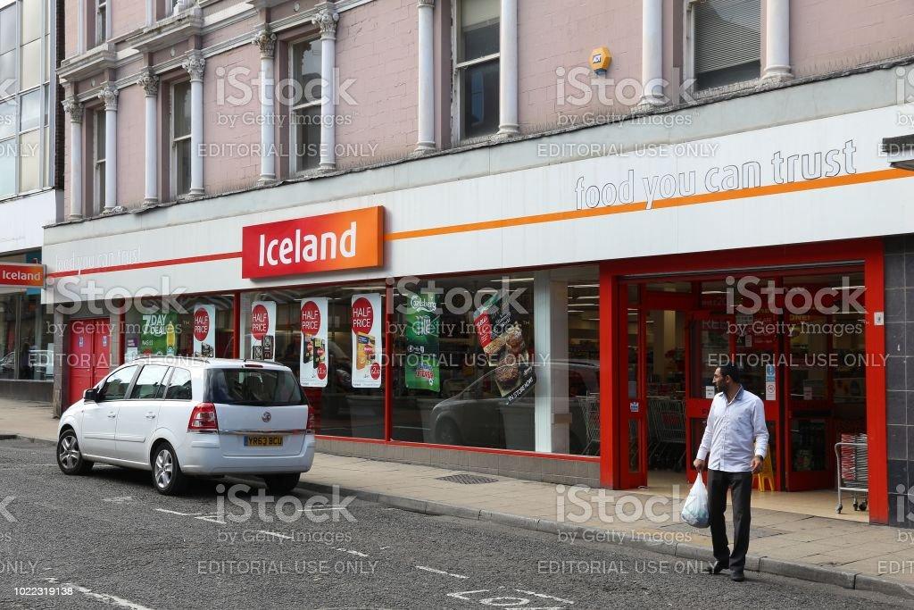 Iceland frozen foods stock photo