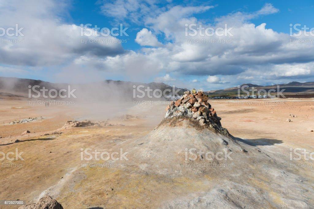 Iceland fumarole springs stock photo