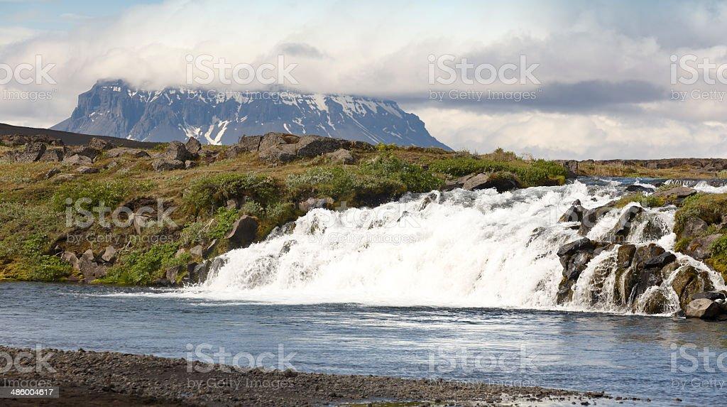 Iceland. Herdubreid Mountain. Highland region. F88 Road. stock photo