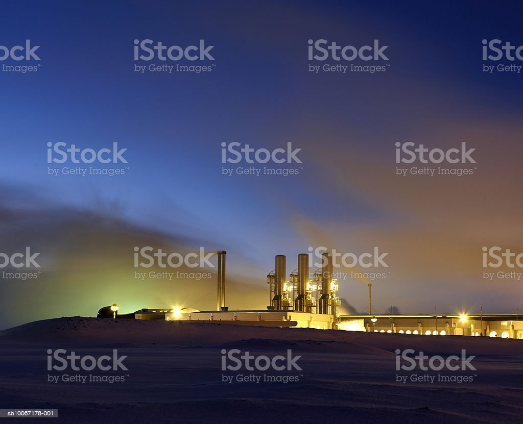 Iceland, Hitaveita Sudurnesja Geothermal Power Plant royalty-free stock photo