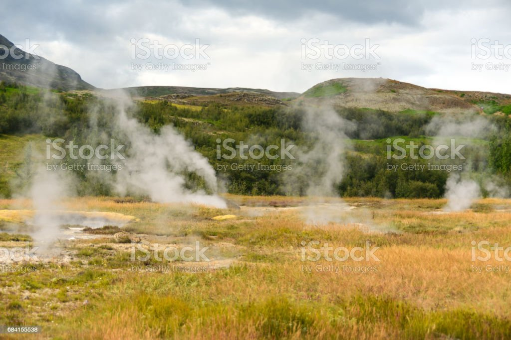 Iceland hot steam zbiór zdjęć royalty-free