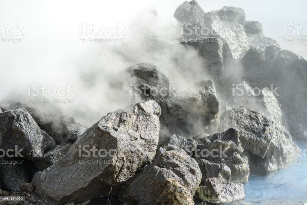 Iceland hot steam foto stock royalty-free