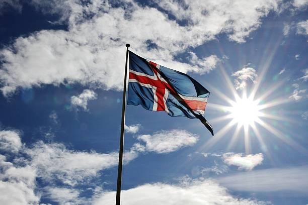Islândia: Islândia Bandeira do sol - foto de acervo
