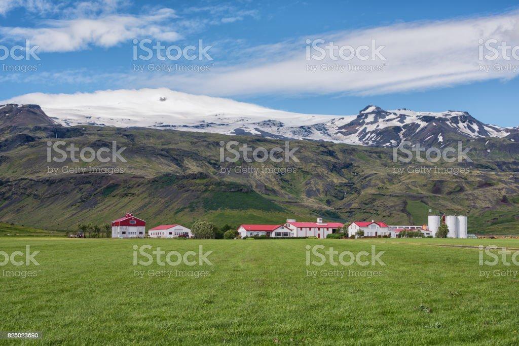 Iceland Landscape, Eyjafjallajökull stock photo