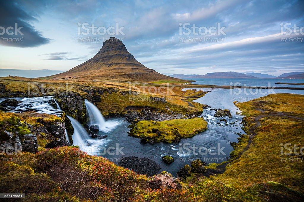 Iceland Landscape Kirkjufell stock photo