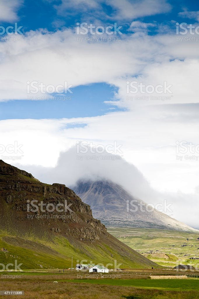 Iceland Landscape with Farmhouse royalty-free stock photo