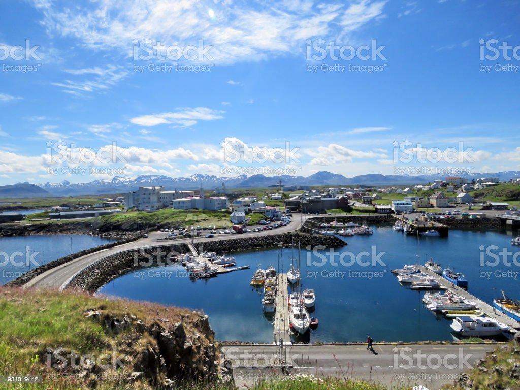 Iceland landscape with Stykkisholmur 2017 stock photo
