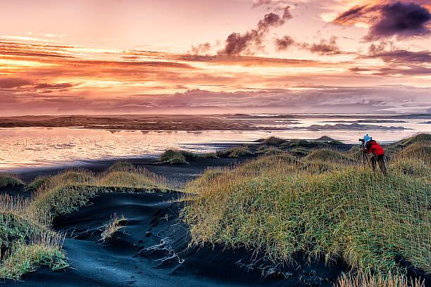 Island Lanscape bei Sonnenuntergang, Stokksnes, East Island – Foto