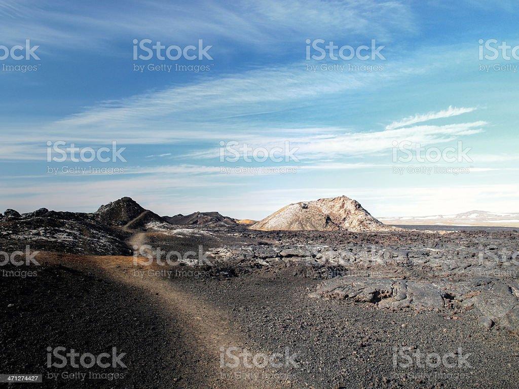 Iceland Lava Fields stock photo