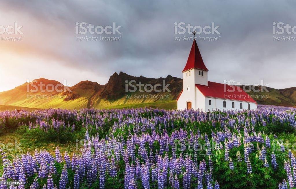 Islandia, situada en la principal carretera de circunvalación alrededor de la isla - foto de stock