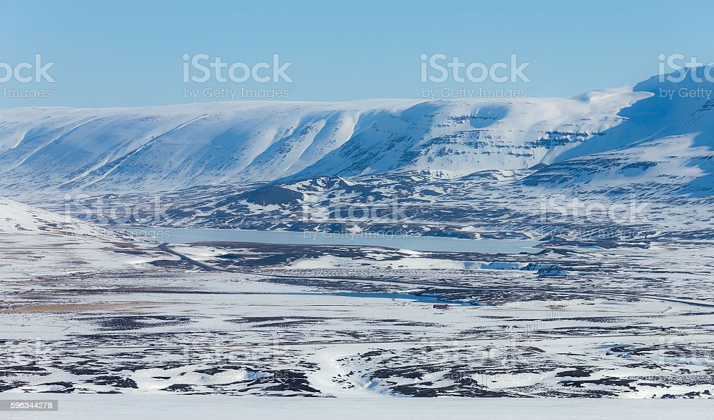 Iceland mountain natural winter landscape Lizenzfreies stock-foto