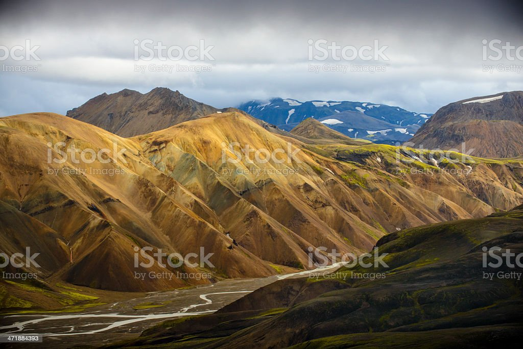 Iceland mountains royalty-free stock photo