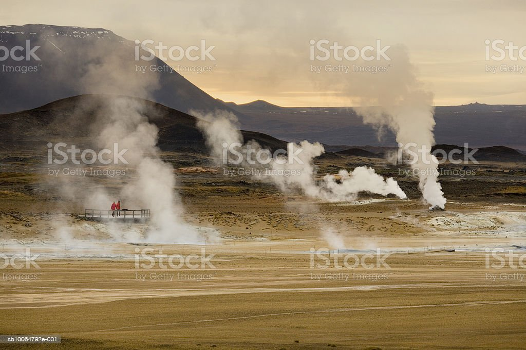 Iceland, Namaskard geo thermal area near Lake Myvatn royalty free stockfoto