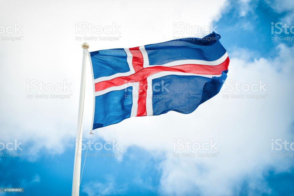 Islândia Bandeira nacional - foto de acervo