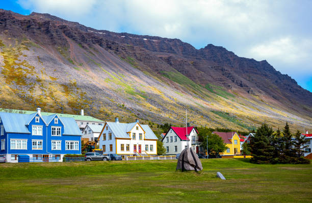 Iceland, natural wonders and traditions stock photo
