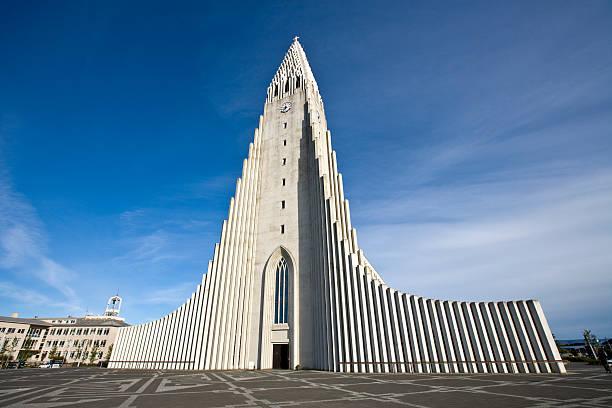 Iceland Reykjavik Hallgrimskirkja  Hallgrímskirkja church stock pictures, royalty-free photos & images
