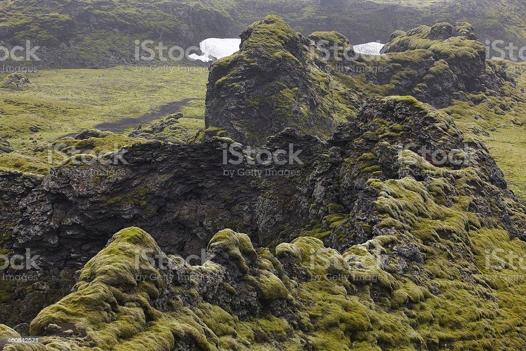 Iceland. South area. Lakagigar. Volcanic landscape. royalty-free stock photo