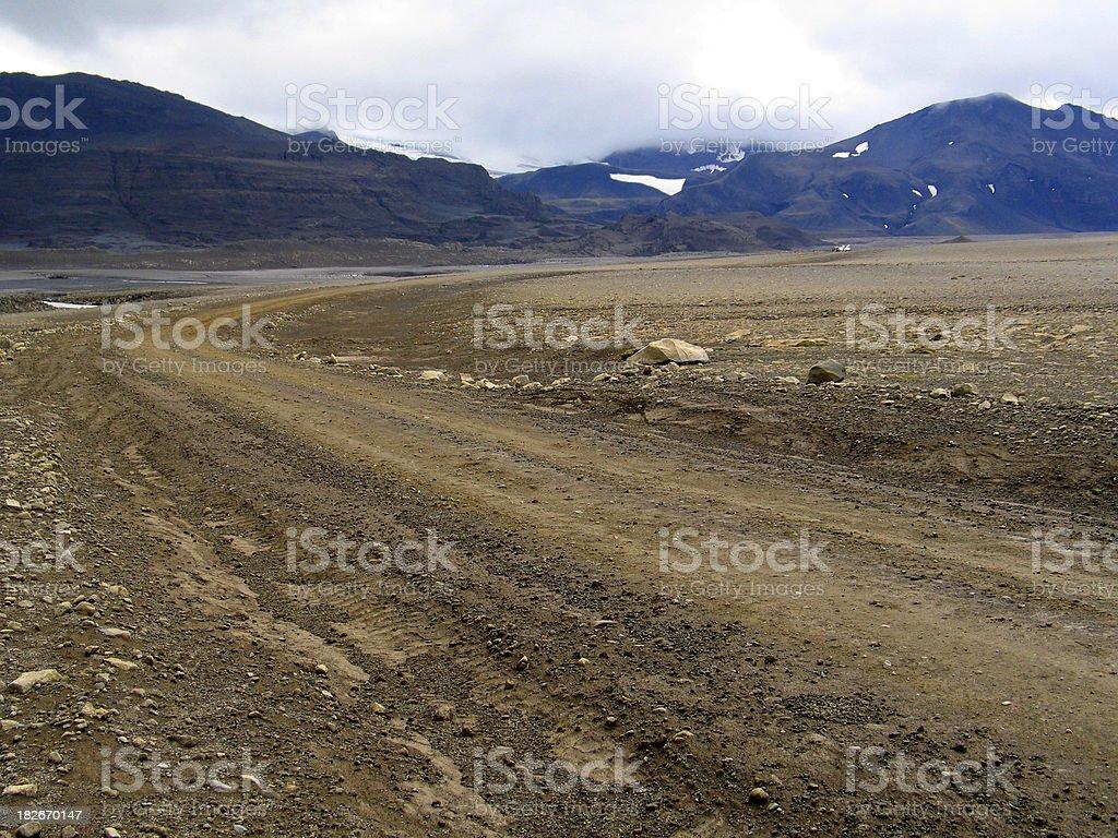 Iceland: Stony Highland Route (2) royalty-free stock photo