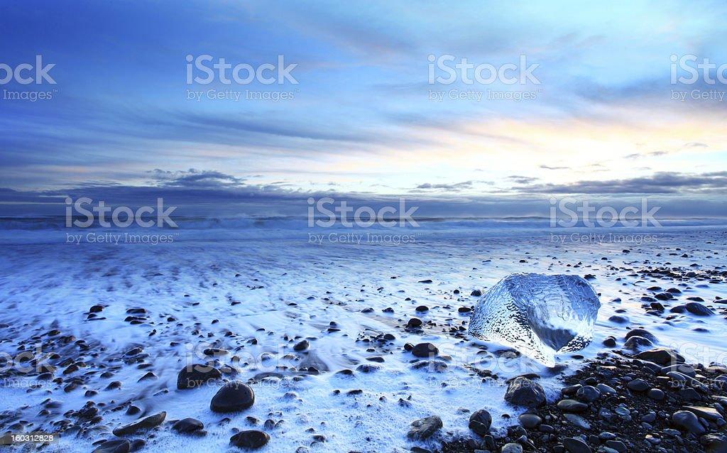 Iceland sunset royalty-free stock photo