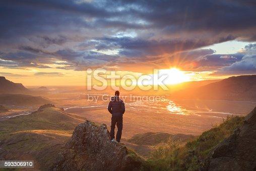 istock Iceland sunset 593306910
