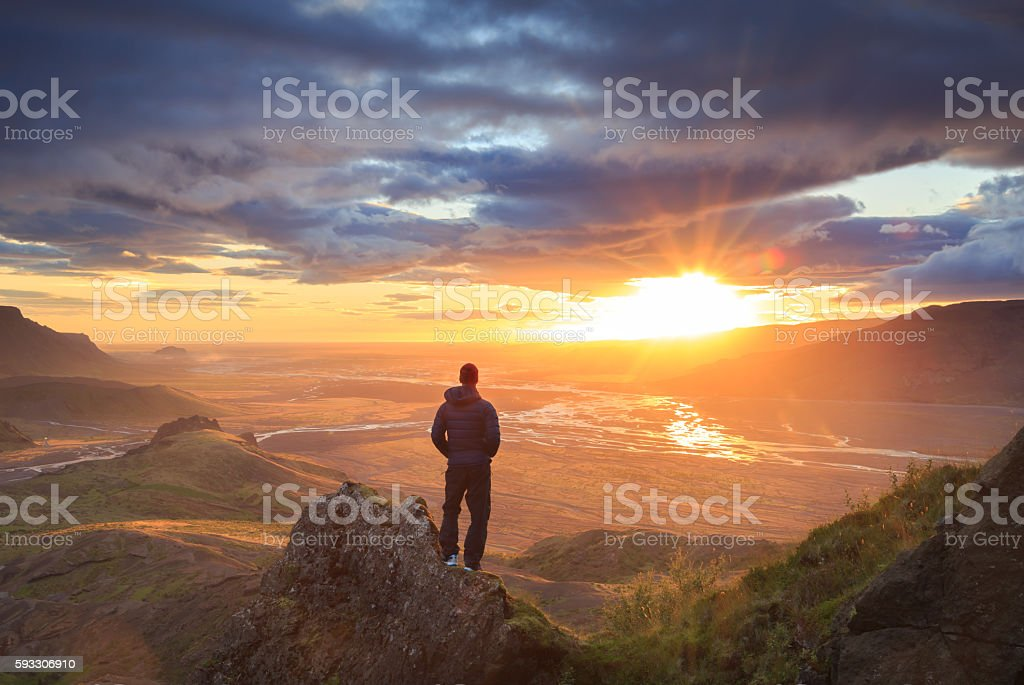 Iceland sunset stock photo