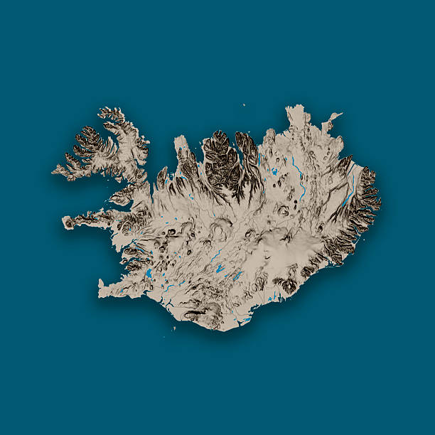 Royalty Free Iceland Topographic Map Pictures Images And Stock
